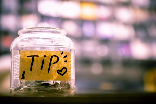 tips money jar