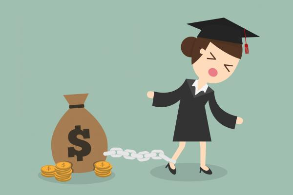 money loans weighing down a graduate