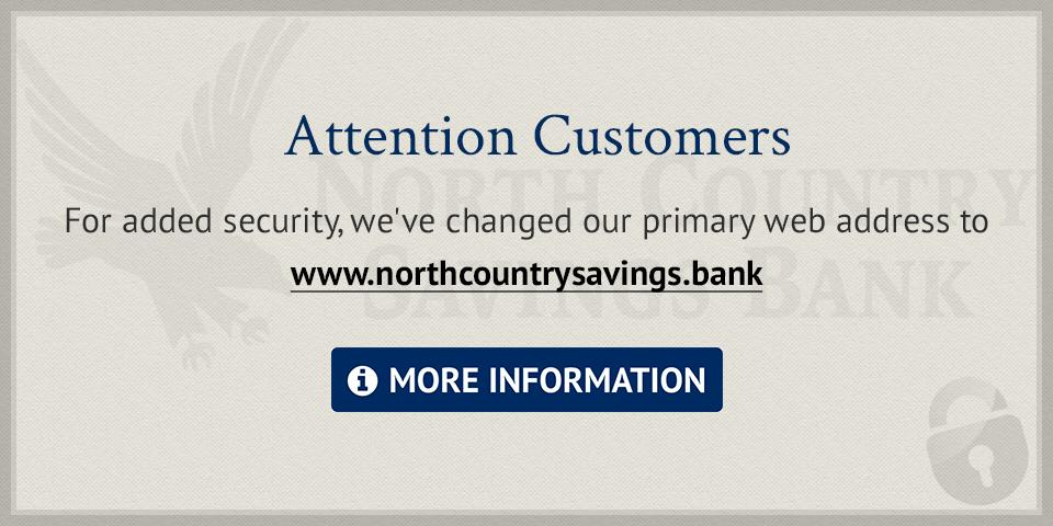 NCSB primary web address change to dot bank